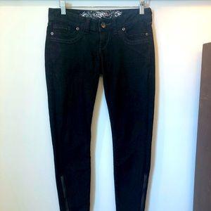 Express jeans cropped leggings Zelda blk wash sz 0